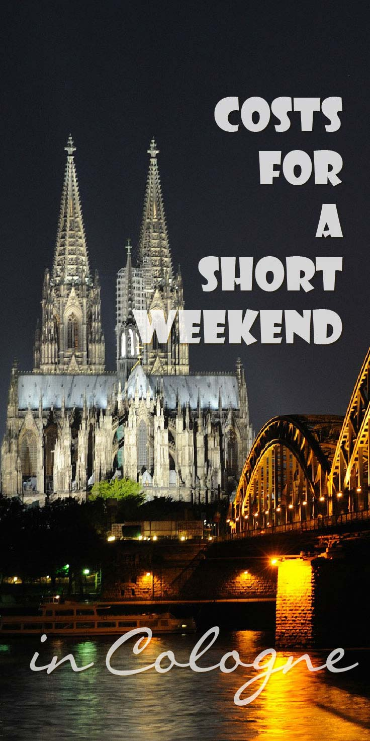 Do you wonder how much you'll spend in Cologne? I kept track of my expenses and can give you my costs for a short weekend in Cologne for 1 person.