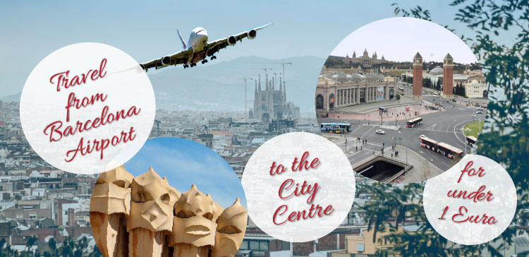 How to Travel from Barcelona Airport to City Center under 1 Euro?