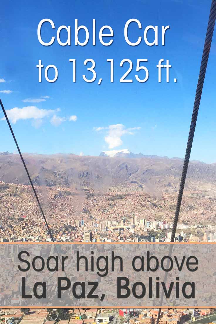 The cable car of La Paz Bolivia is a cheap and fast mode of transportation for the locals, but it is also a fun tourist attraction in the city of La Paz.