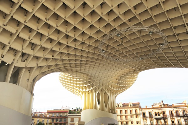 Las Setas Sevilla or the Setas of Seville, Spain are wooden parasol like structures, called mushrooms of Seville. This unique piece of architecture is a must see in Seville and I give you tips on how to enjoy Las Setas de Sevilla best!