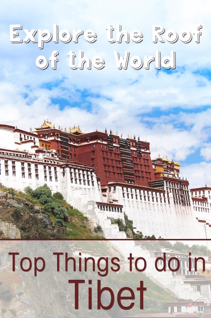 Tour Tibet Roof of the World China Chinese Orient Travel Advertisement Poster