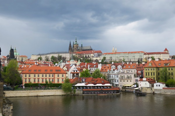 View on Prague Castle during my visit to the Prague Easter Markets