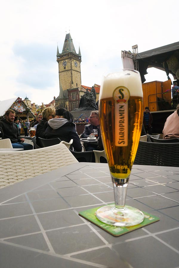 Czech beer at Prague Easter Markets