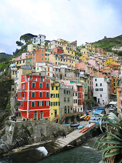 Best view of Riomaggiore in Cinque Terre. This is what you'll get when you're staying in Cinque Terre Italy