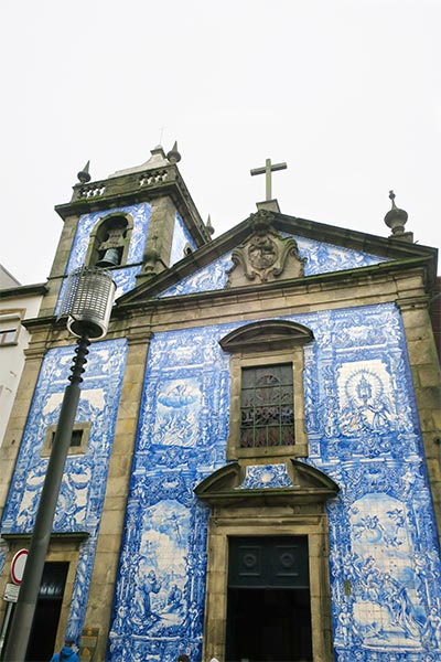 Amazing image of the blue church in Porto Portugal