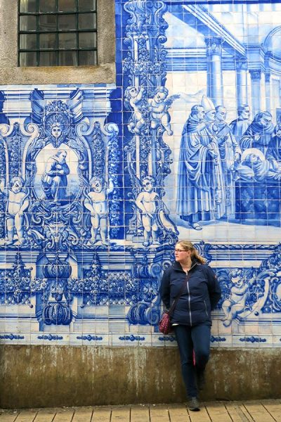 Amazing image of the blue church in Porto Portugal