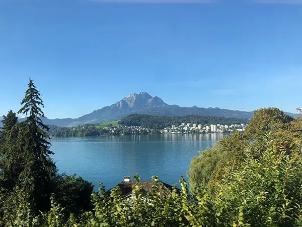 Pre-Alpine Express is a scenic train ride from Luzern to St. Gallen. The Voralpen Express shows a spectacular route through the heart of Switzerland.