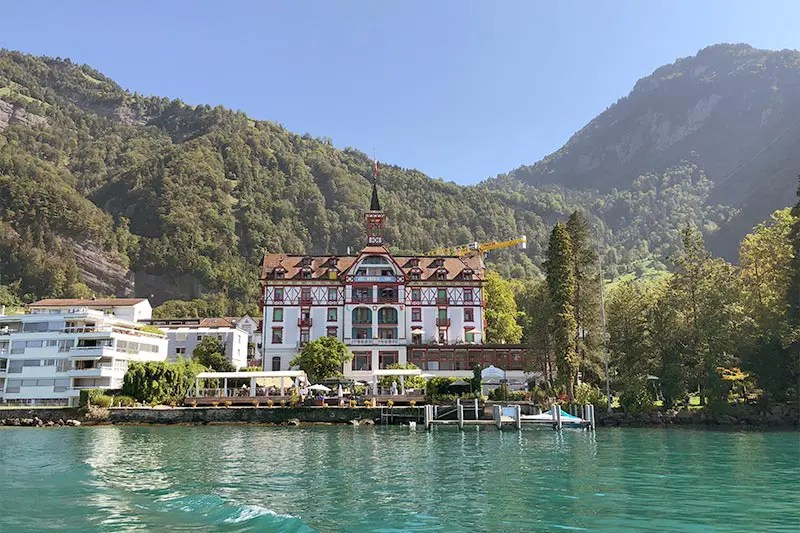 Viznau, a lovely village on the Lake Lucerne that you can visit or stay overnight.