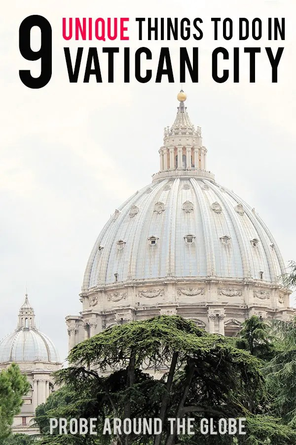 Read my recommendations of 9 unique things to do in Vatican City to make your trip memorable. Including practical tips to arrange your visit to the Vatican.