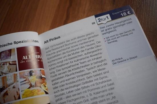 Gutscheinbuch Bochum & Umgebung Gutschein Alt Piräus Bochum Probenqueen