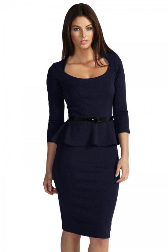 Elegante Abendkleider schwarzes Kostüm Vorderseite Probenqueen