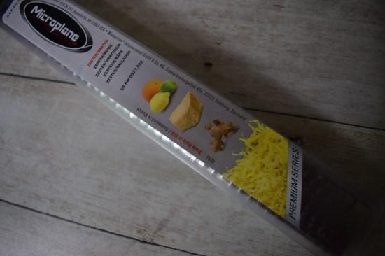 Herzhafte Käsetaler Microplane Reibe Premium Classic eingepackt www.probenqueen.de