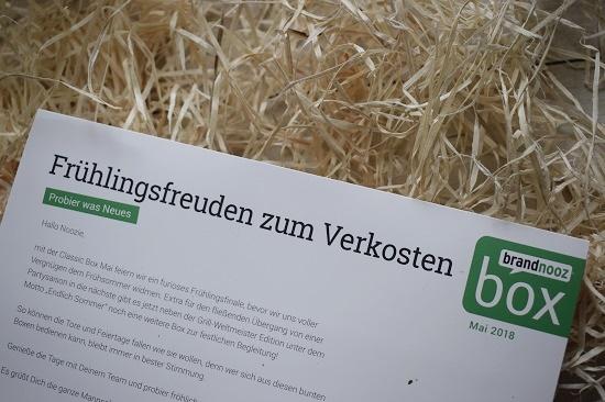 """Brandnooz Box Mai 2018 Beileger """"Frühlingsfreuden zum Verkosten"""" www.probenqueen.de"""