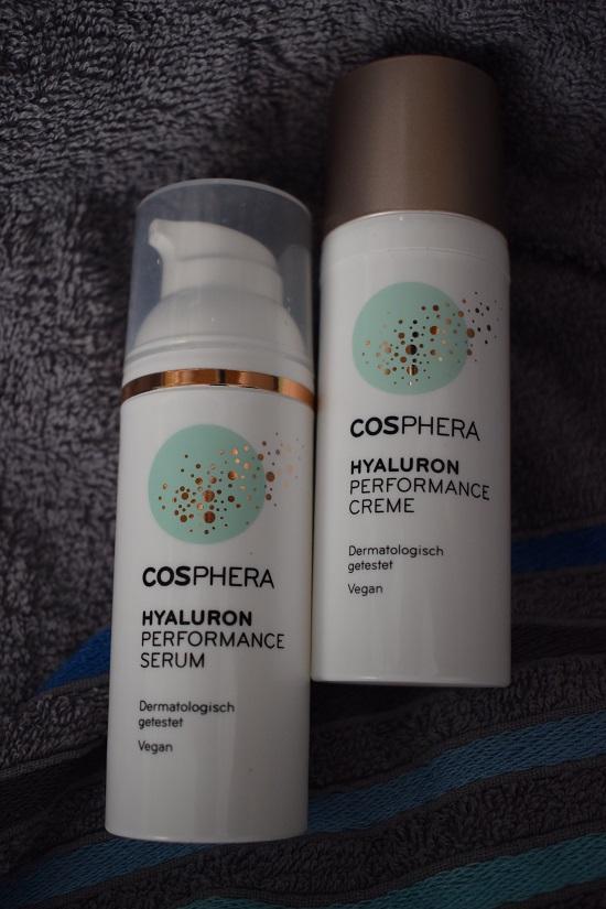 Cosphera Hyaluron Performance Serum und Creme Pumpfspender www.probenqueen.de