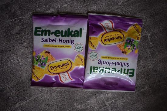 Bonbons von Em-Eukal zwei Beutel Salbei-Honig www.probenqueen.de