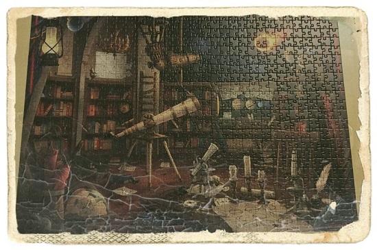 Ravensburger Exit Puzzle Sternwarte fertiggestellt Foto mit filter