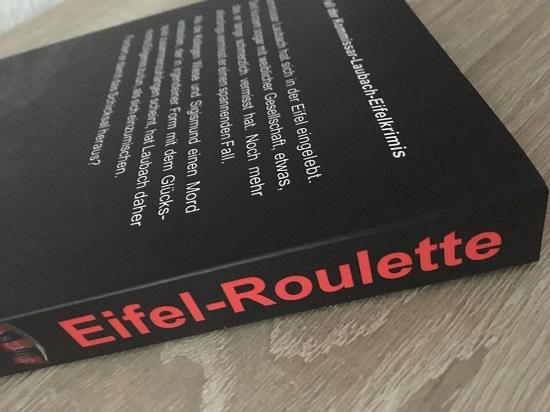 Eifelroulette von Peter Splitt Buchrücken mit Titel www.probenqueen.de