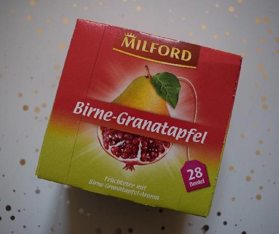 Degustabox Februar 2019 Milford Tee Birne-Granatapfel
