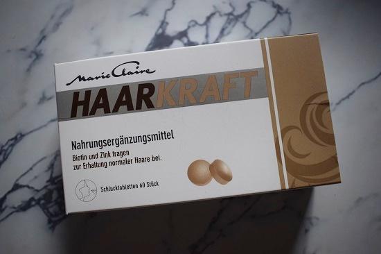 natürlich schön Aktionsbox Marie Claire Haarkraft Tablettenpackung