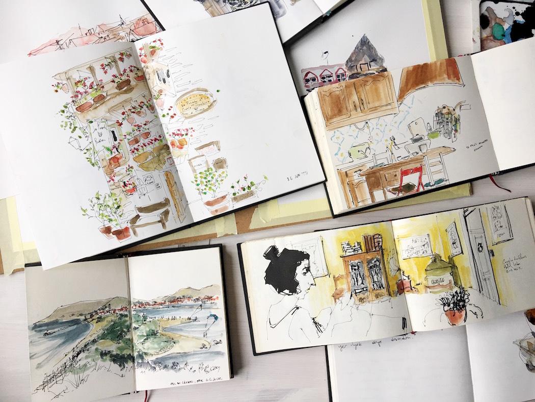 çizim sketch watercolor günlük blog y