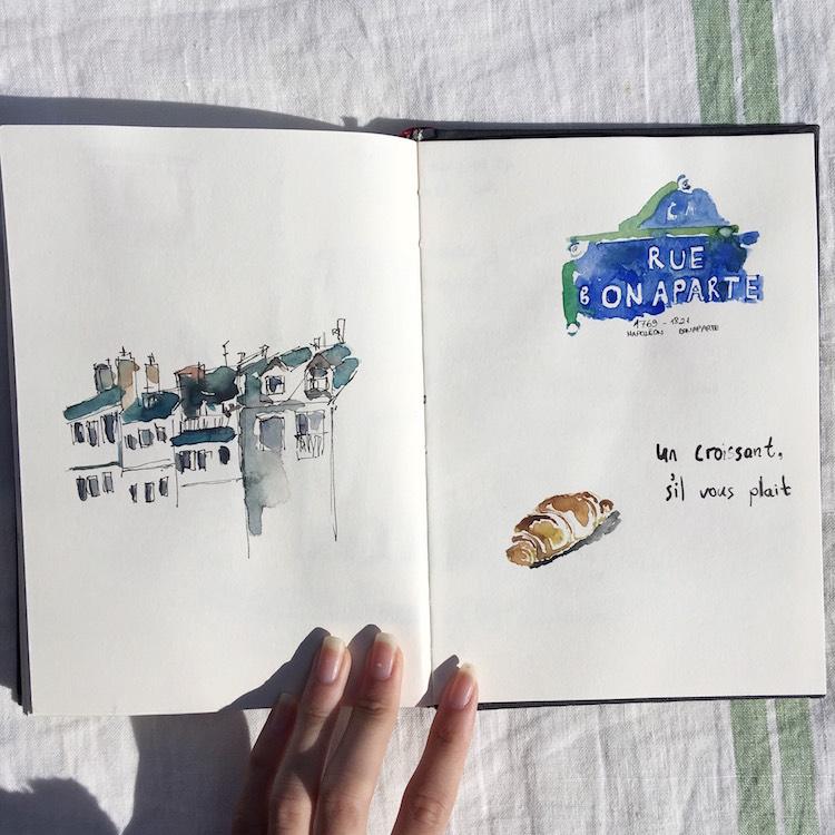 drawing çizim blog blogger paris urban sketchers