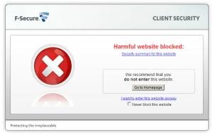 The website has been blocked