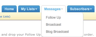 aweber messages followup