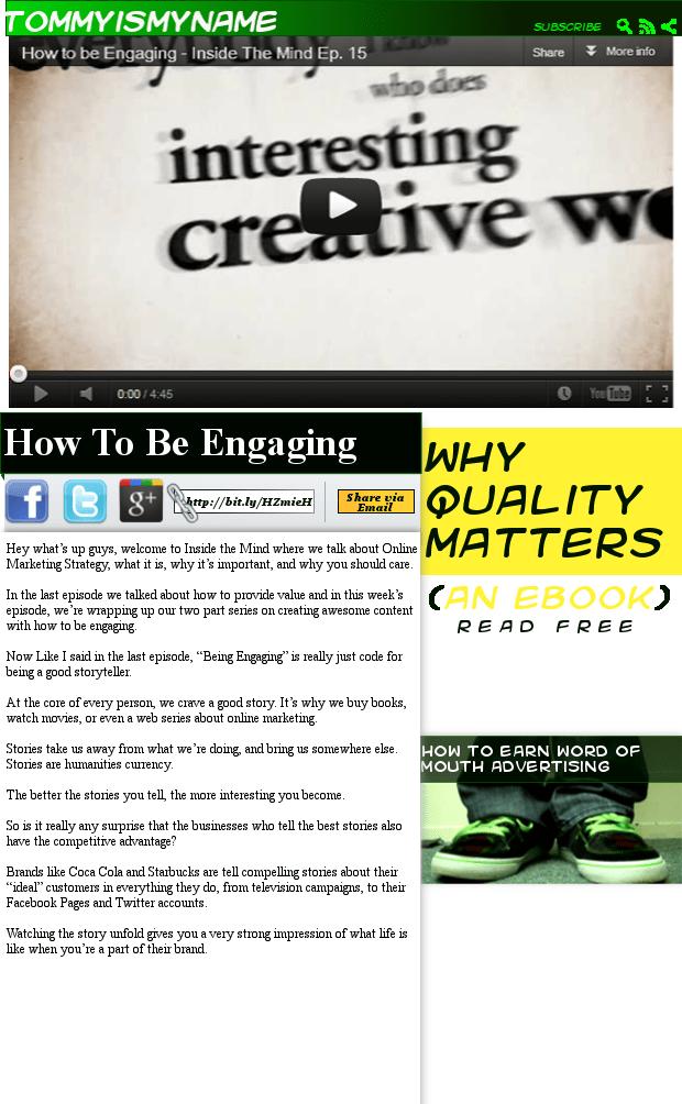 New sharing layout