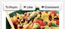 Pinterest's Hover options
