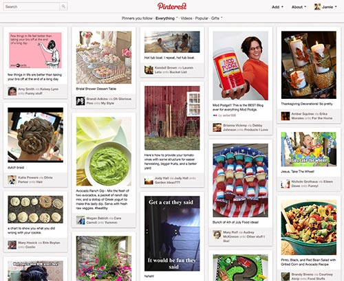 Pinterest Main Page