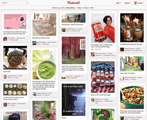 Pinterest Main Page