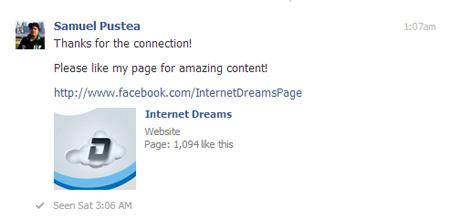 facebook-connection-thankyou-message