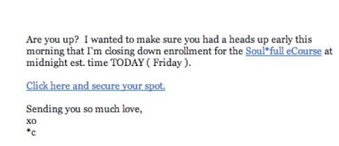 Email by Catherine Just