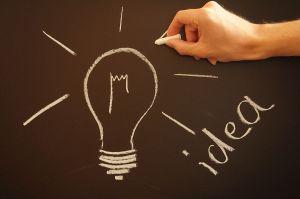 Light bulb with a great idea
