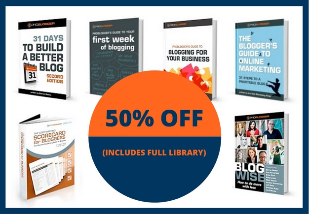 50 percent off ProBlogger Book Sale