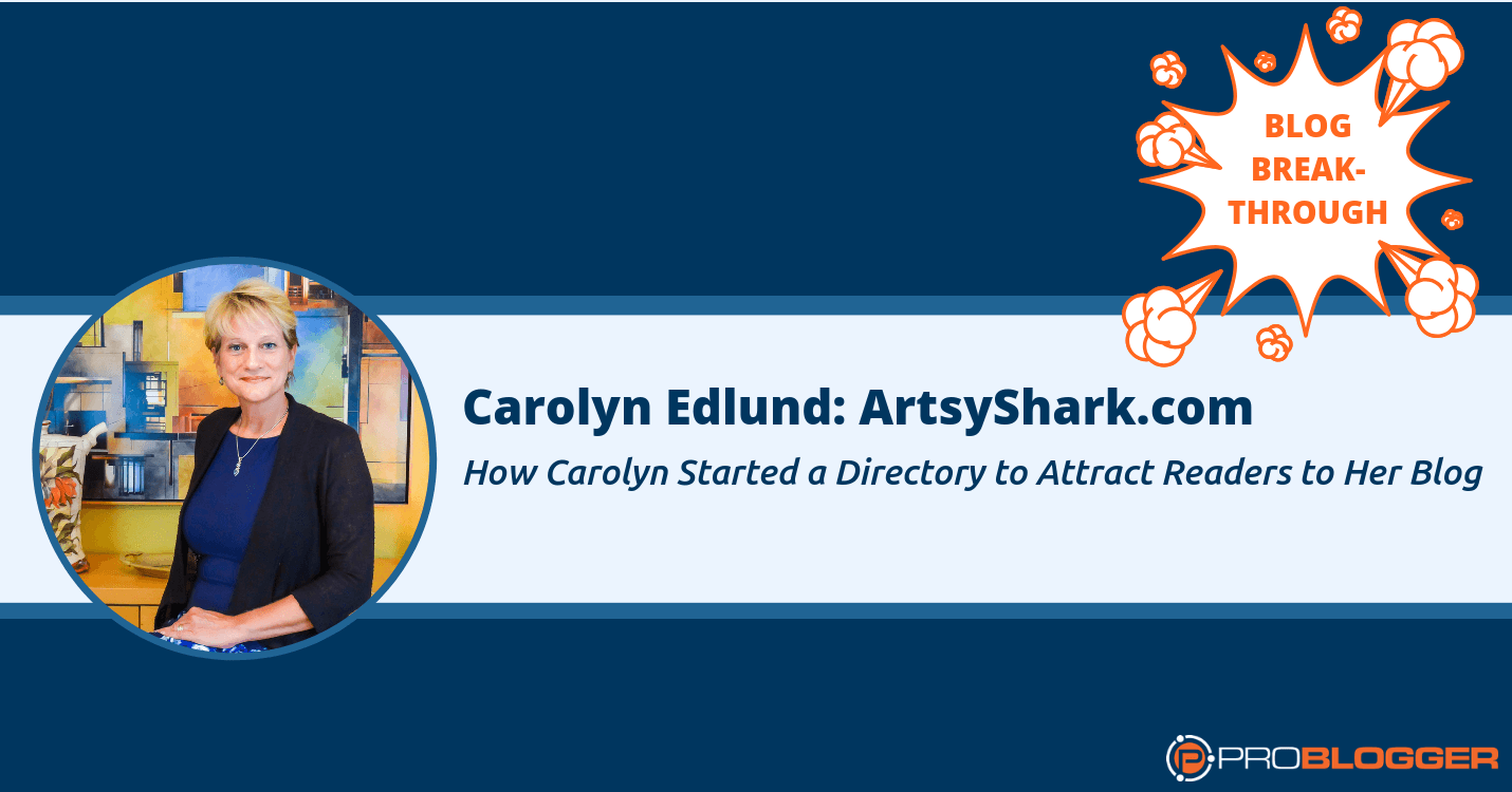 Carolyn Edlund created a directory to attract readers to her blog.