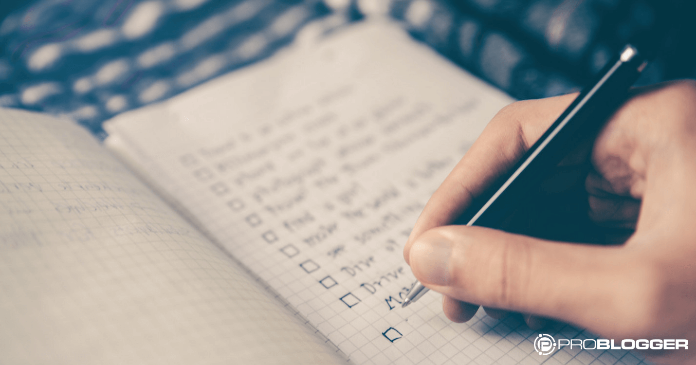using templates and checklists to make your blogging life easier