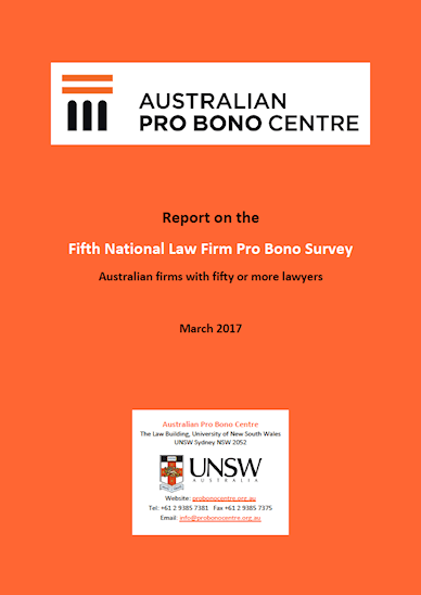 Fifth National Law Firm Pro Bono Survey