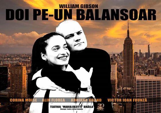 """""""Doi pe un balansoar"""", vineri de la ora 18, pe scena Teatrului Maria Filotti"""