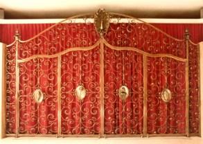 Altar Gitter aus Bronze mit vier Türen