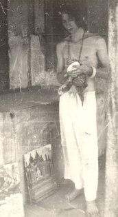 Erstes Oel-Bild gemalt am Borbudur