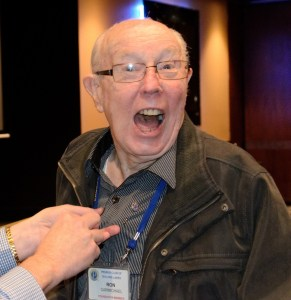 Ron was quite excited to receive his life membership pin
