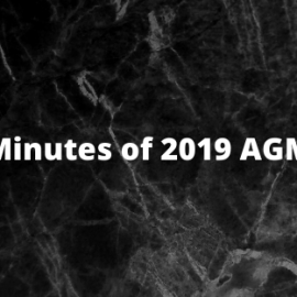 Minutes of 2019 AGM
