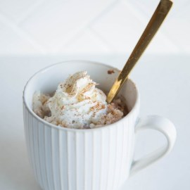 Rice Pudding in a Mug for 2