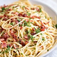 Garlic & Bacon Pasta