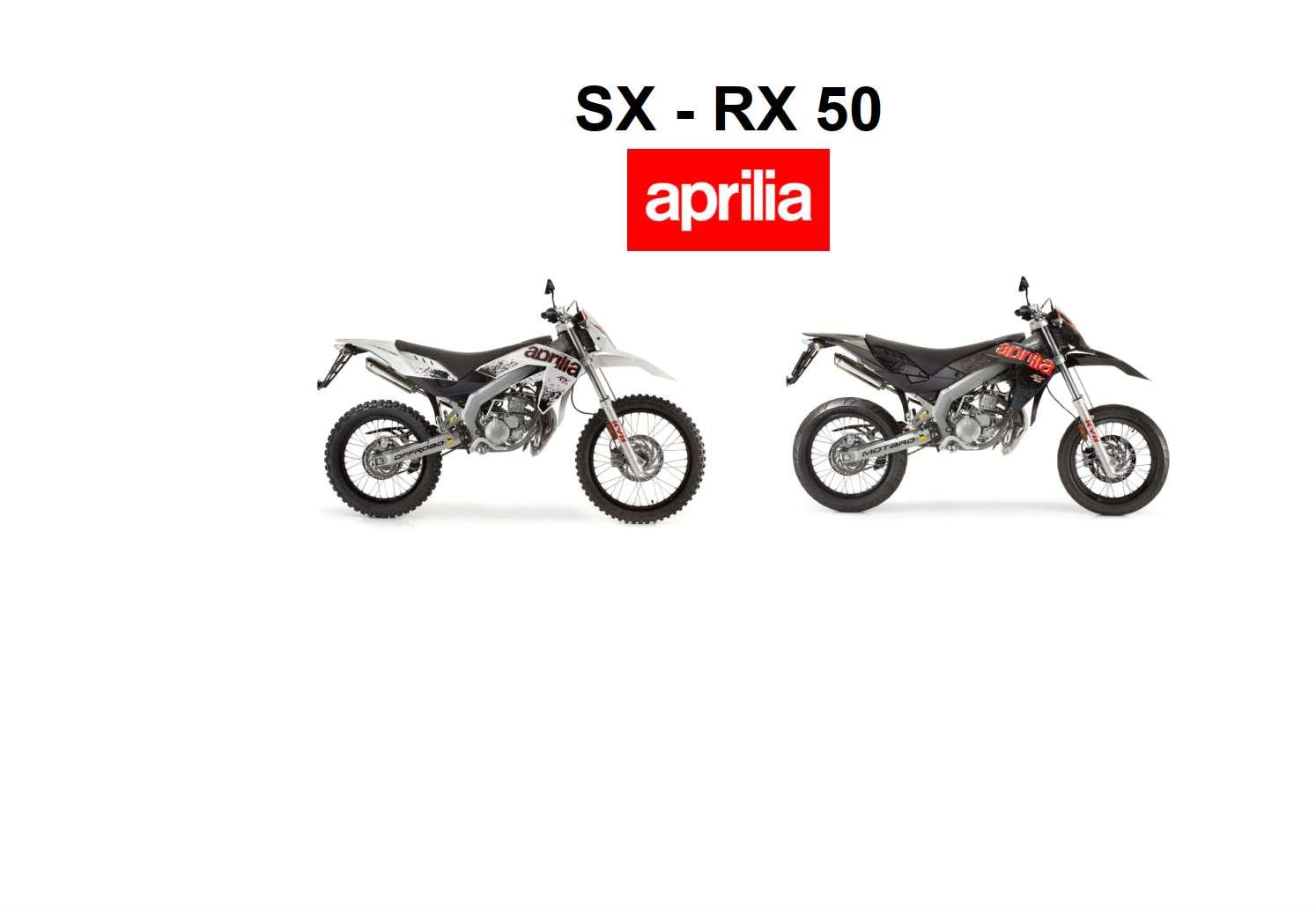 Aprilia Sx Rx 50 Owner S Manual