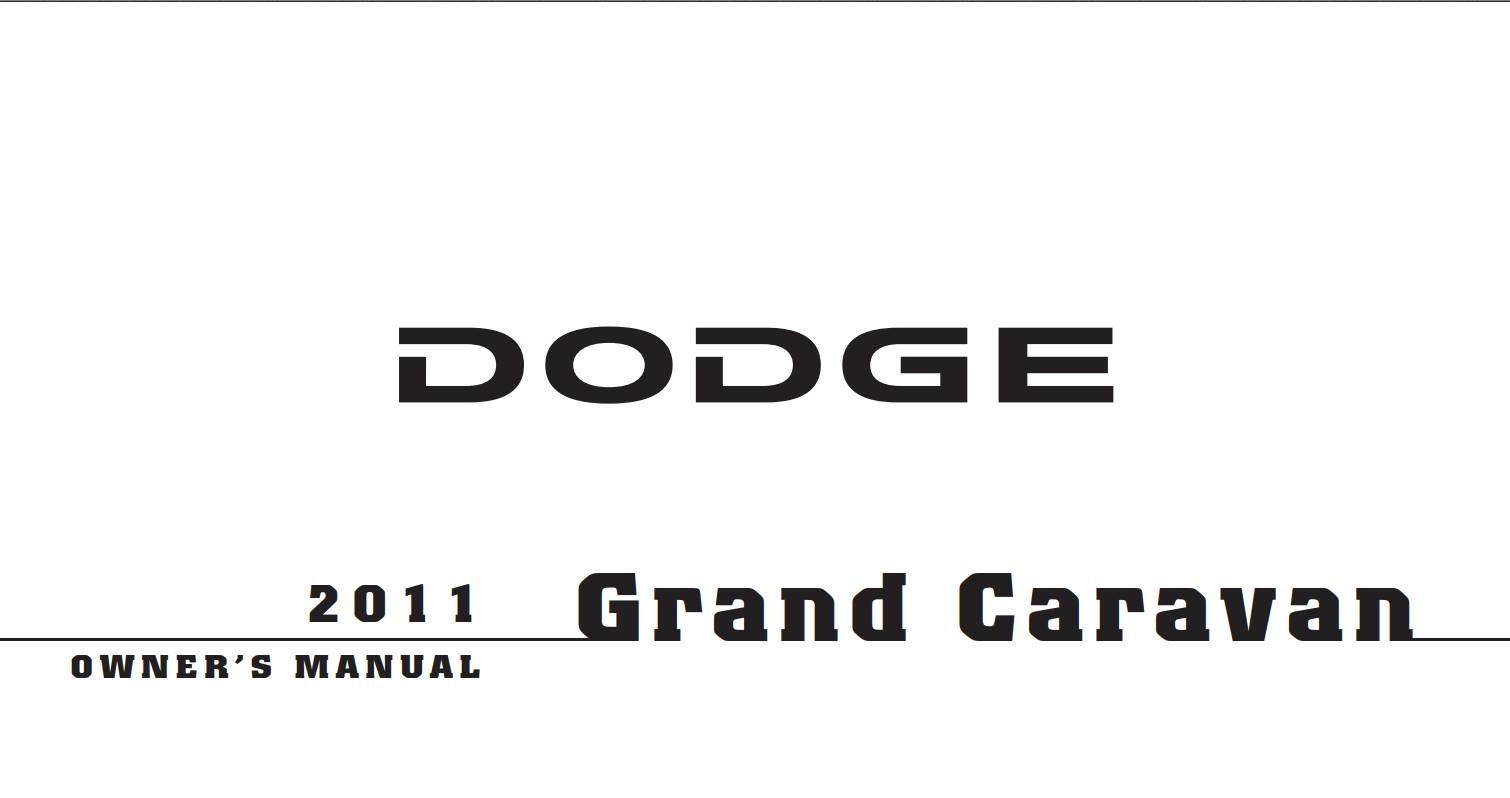 Dodge Grand Caravan Owner S Manual Download
