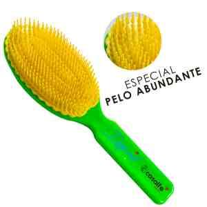 cabello abundante verde