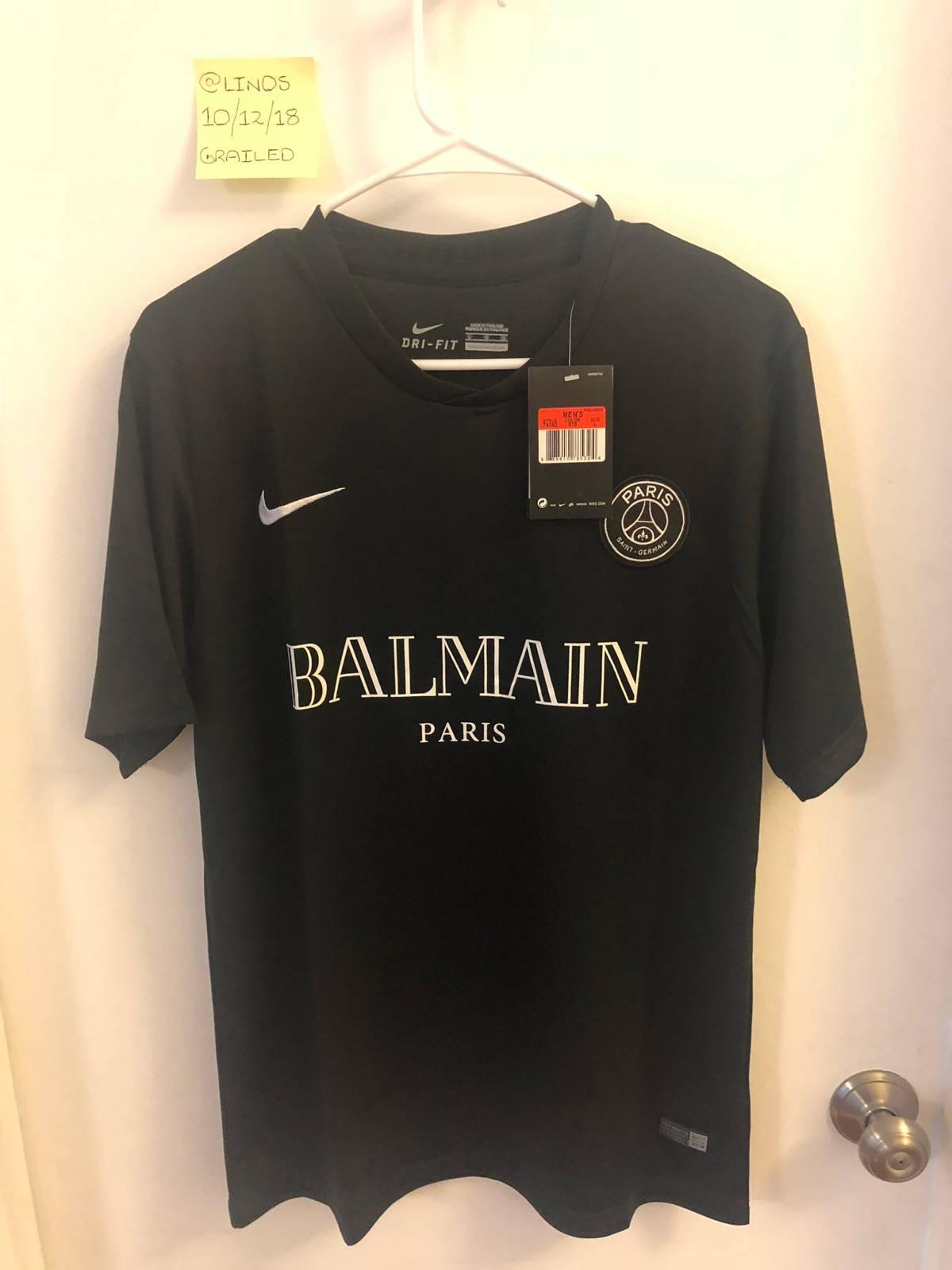 Kylian mbappe ended a four. Balmain Nike X Balmain X Psg Custom Mens Soccer Jersey
