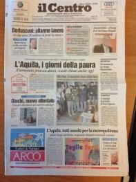 Il Centro, ed. L'Aquila, 01-04-2009, 1